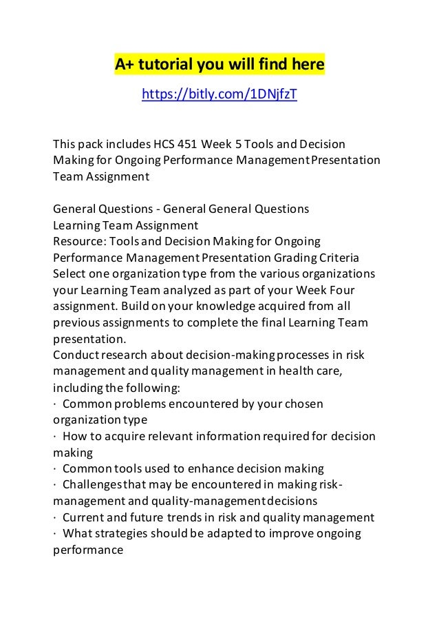 hcs 451 week 4 team assignment