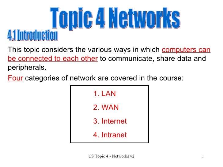 Hcs Topic 4 Networks V2