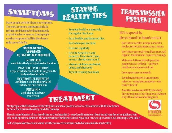 health hepatitis leaflet
