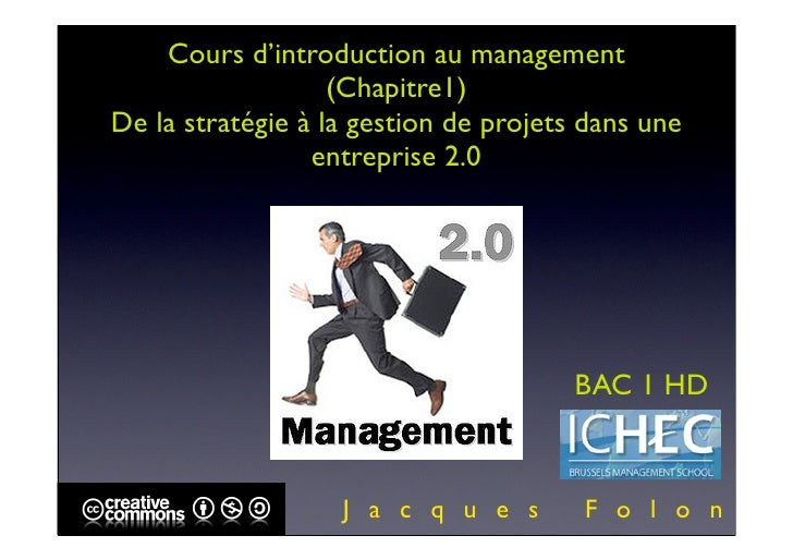 ICHEC BAC 1 INTRO MANAGEMENT COURS 1 version pdf