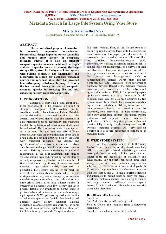 Mrs.G.Kalaimathi Priya / International Journal of Engineering Research and Applications                (IJERA)            ...