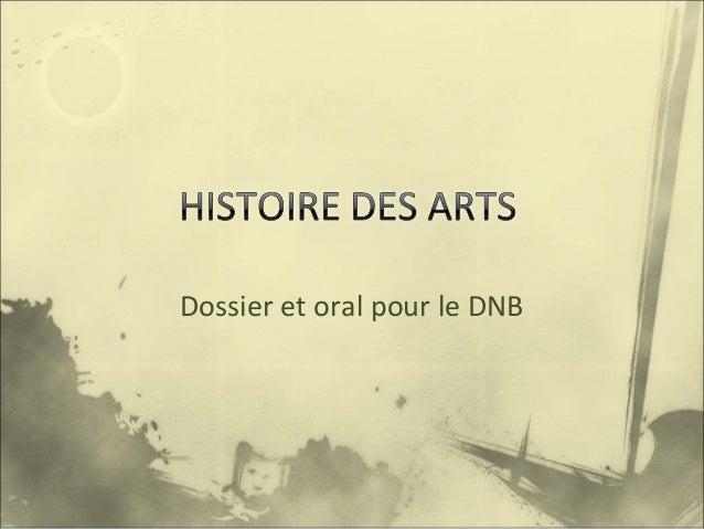 Dossier et oral pour le DNB