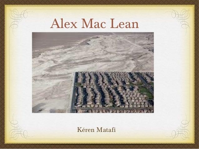 Alex Mac Lean Kéren Matafi