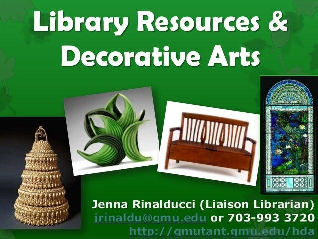 History of Decorative Arts Orientation Fall 2013