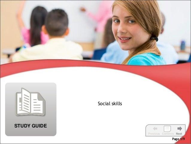 Social skillsSTUDY GUIDE                              Previous Contents Next                                             P...