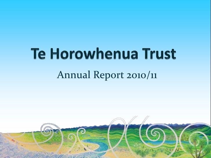 Horowhenua Library Trust : Annual Report 2010/2011