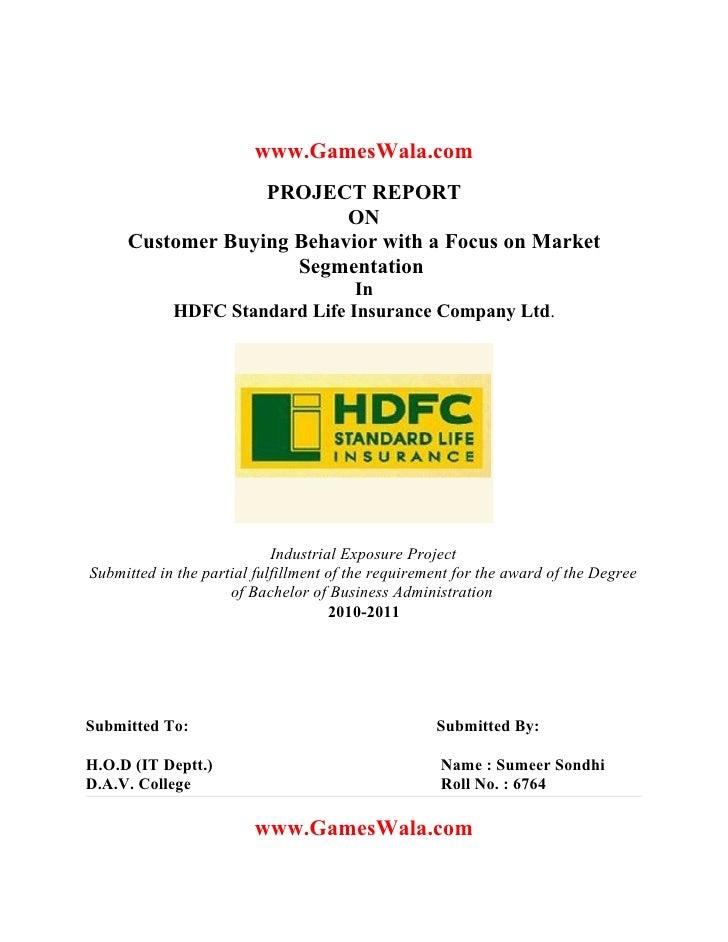 Hdfc standard life insurance www.gameswala.com