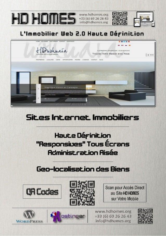 L'Immobilier Web 2.0 Haute Définition Dans des Temps où le Marché se restreint, la Solution est d'en augmenter ses Parts. ...