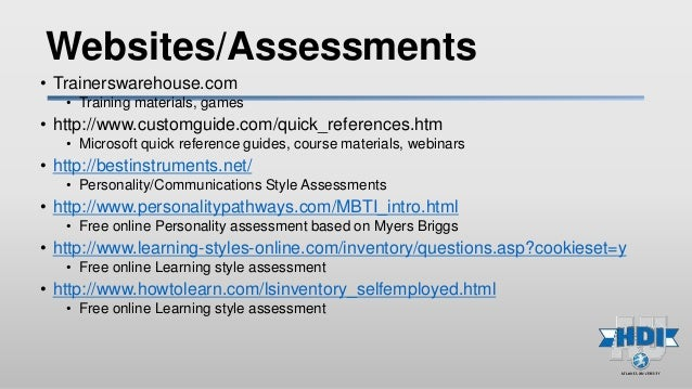 personal assessment your learning style Learning will not succeed unless the into my own personal style on self assessment of learning style topics at our.