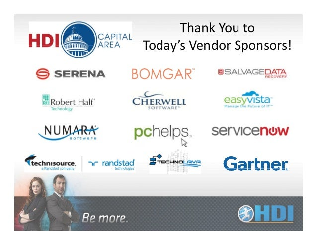 Thank You toToday's Vendor Sponsors!Today s Vendor Sponsors!