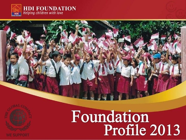 HDI Foundation - NGO Profile 2013