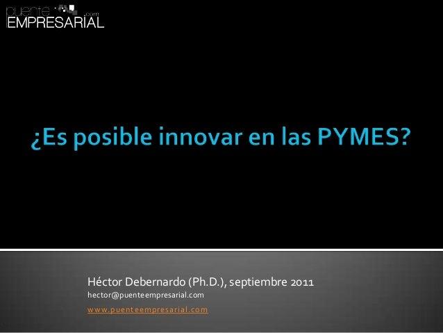 Pequeñas y medianas empresas (PYMES): ¿Es posible la innovación?