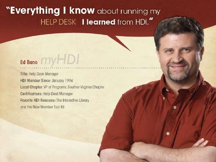 Help Desk Certification Courses HDI - mandegar.info