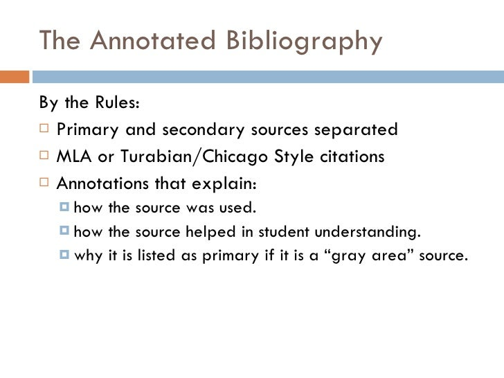 annotated primary source bibliography Please upload an annotated bibliography of three sources primary source from reputable sources—books annotated works cited--3.
