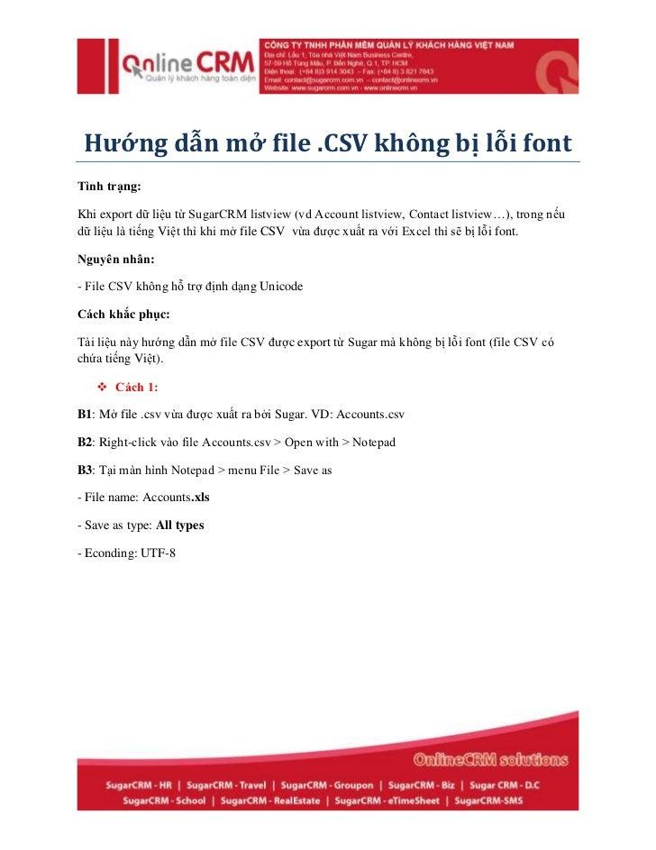 Hướng dẫn mở file CSV không bị lỗi font
