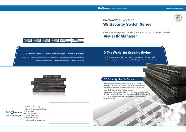 HanDreamnet Co., Ltd.  www.handream.net  The World 1 st Security Switch  Integrated Management System of IP Resource Contr...