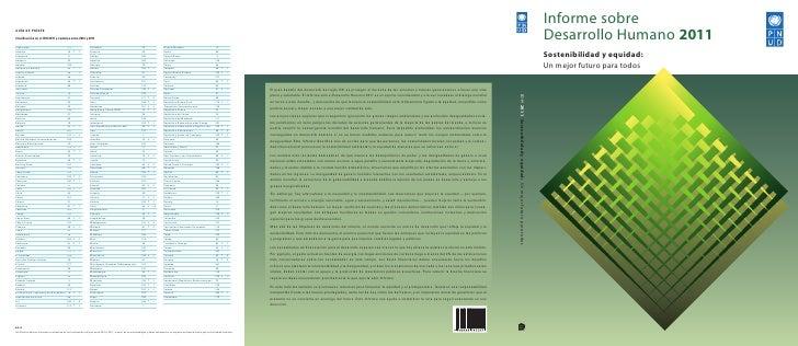 Informe de desarrollo humano 2011