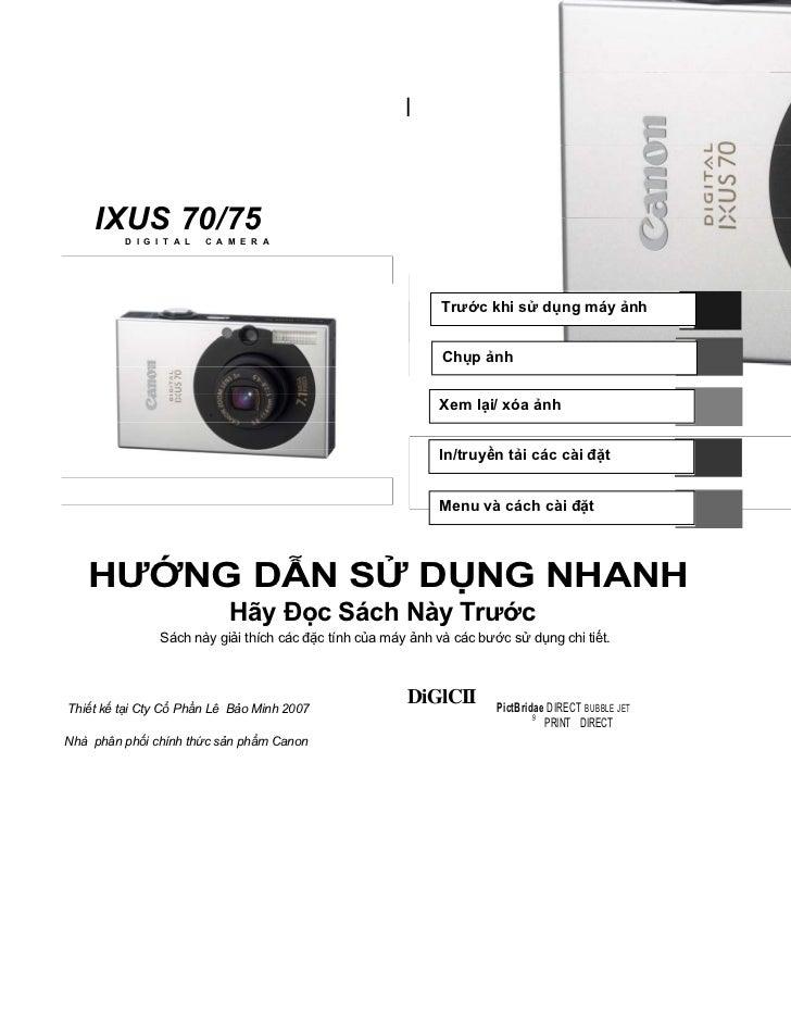 ENGLISH                                      CDI-E268                                                       Canon    IXUS ...