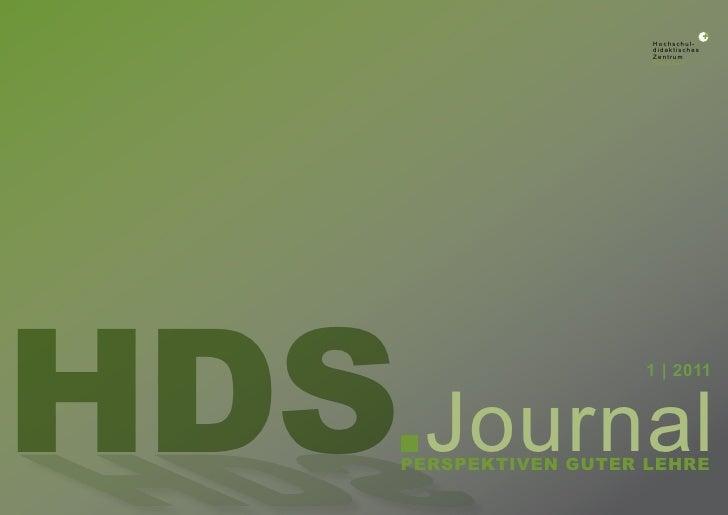 Hochschul-                         didaktisches                         Zentrum                         SachsenHDS Journal...