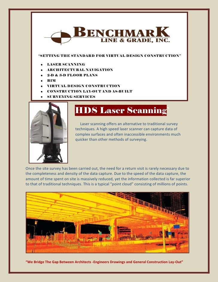 """SETTING THE STANDARD FOR VIRTUAL DESIGN CONSTRUCTION""               LASER SCANNING              ARCHITECTURAL NAVIGATION ..."