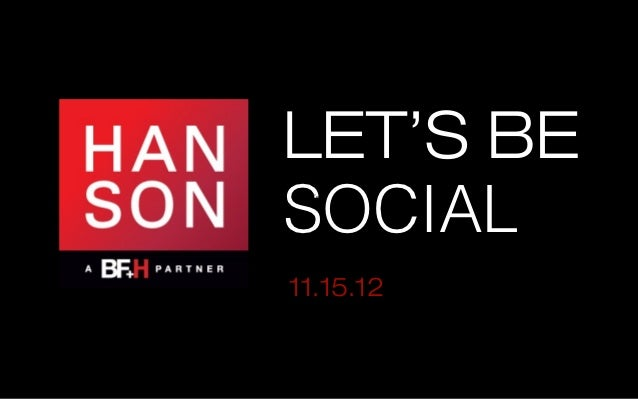 LET'S BESOCIAL Text11.15.12