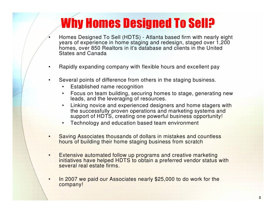 home staging resume