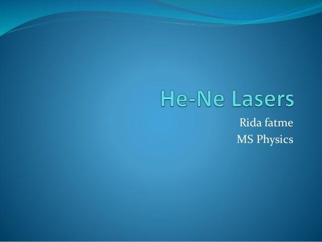 He ne lasers 1
