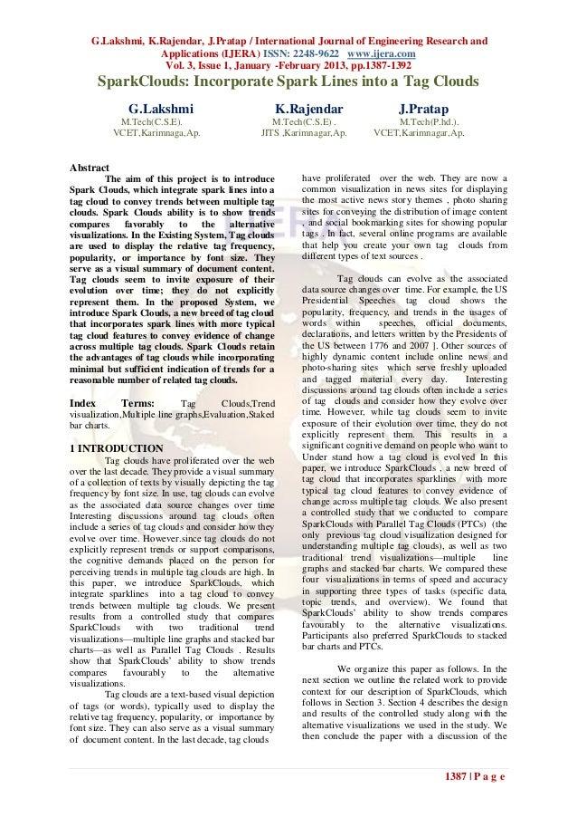 G.Lakshmi, K.Rajendar, J.Pratap / International Journal of Engineering Research and                  Applications (IJERA) ...
