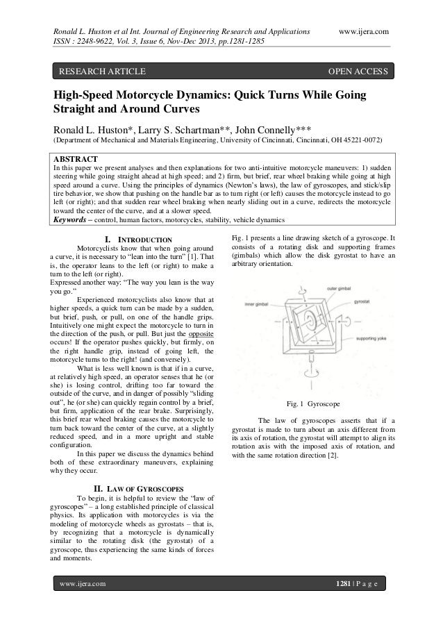 Ronald L. Huston et al Int. Journal of Engineering Research and Applications ISSN : 2248-9622, Vol. 3, Issue 6, Nov-Dec 20...