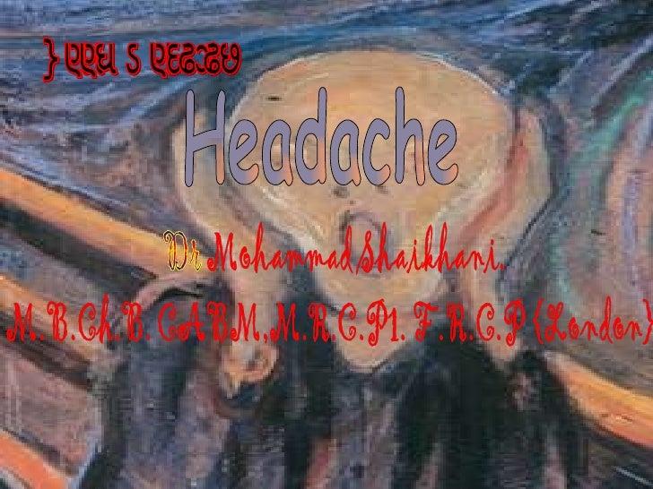 Headache Good morning