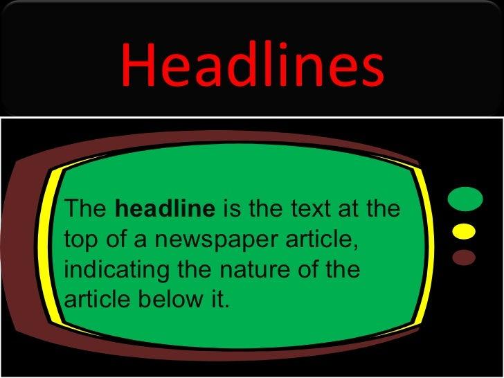 Headlines presentation improved 3
