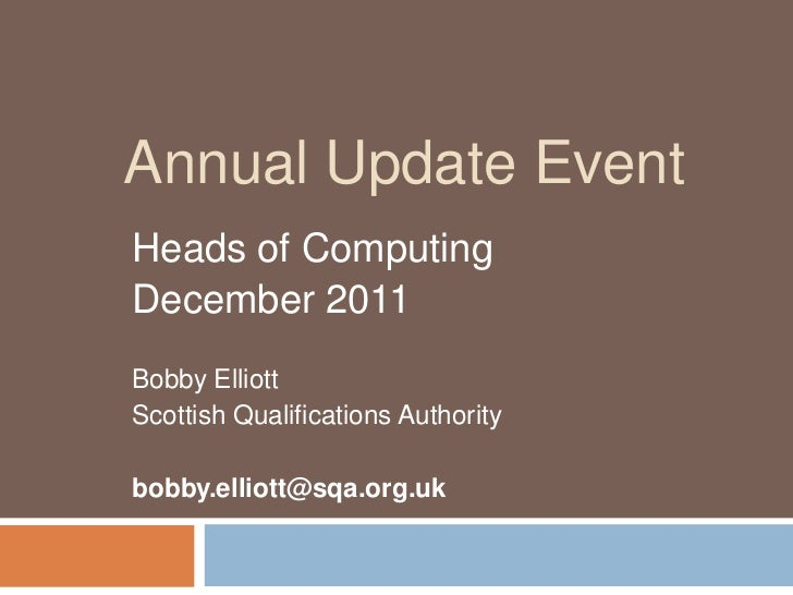 Heads of computing   dec 2011