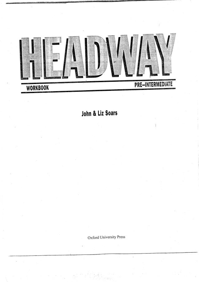 Head way pre int workbook all