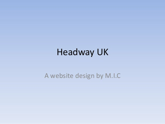 Cultural Networks 2012: Headway UK