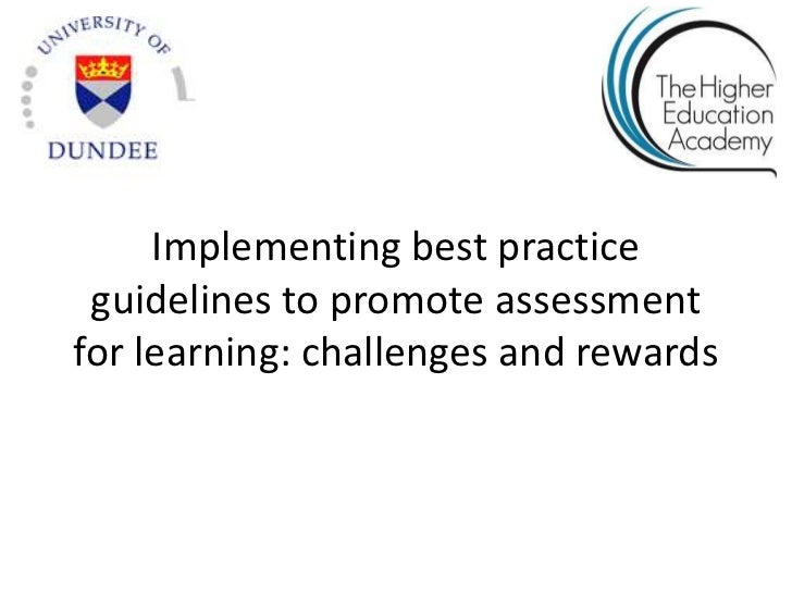 Review of Assessment and Feedback Literature for HEA sponsored seminar