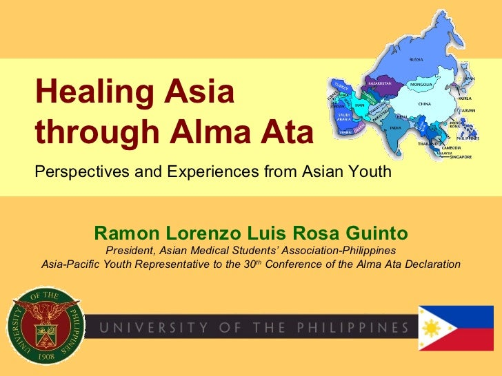 Ramon Lorenzo Luis Rosa Guinto President, Asian Medical Students' Association-Philippines Asia-Pacific Youth Representativ...