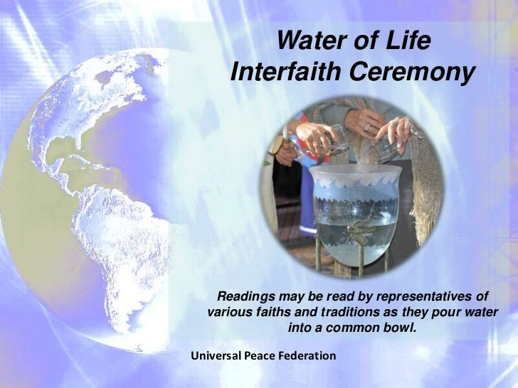 Waters of Healing and Reconciliation