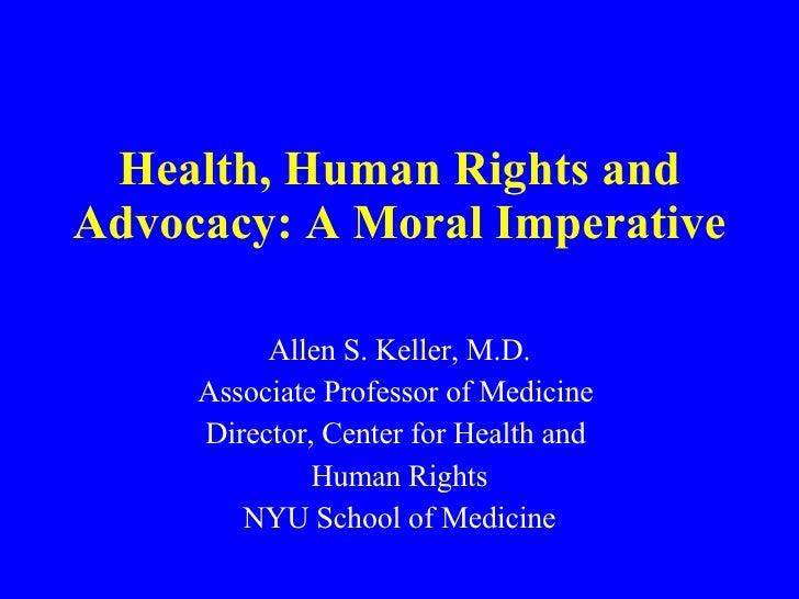 Keller (Bellevue/NYU) - Health and Human Rights