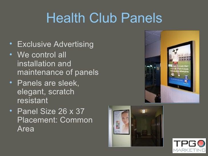 Health Club Panels