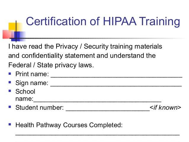 HIPAA Certification Training and Compliance - mandegar.info