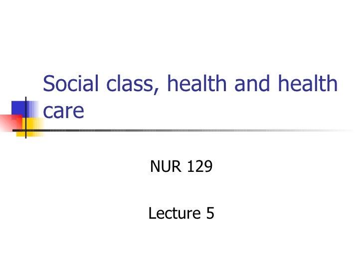 Health Inequalities Class
