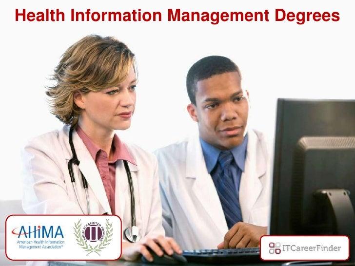 Health Informatics degree courses