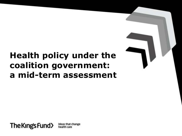 Anna Dixon on health policy under the coalition government