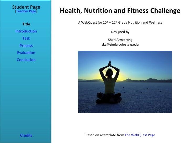 Health Powerpoint Webquest