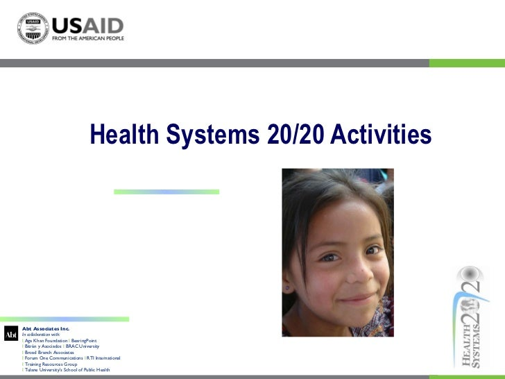 Health  Systems 2020 Overview 2011