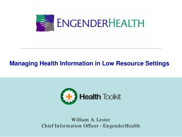 Health Toolkit - Managing Medical Information in Low Resource Settings