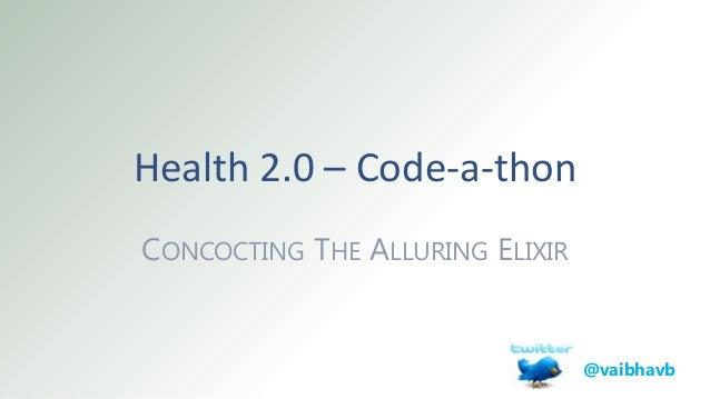 Health 2.0 Code-A-Thon