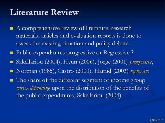 Literature review on health care