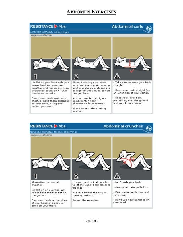 ABDOMEN EXERCISES      Page 1 of 9