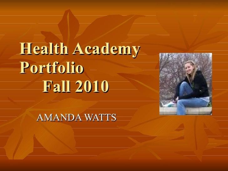 Health Academy-Amanda Watts
